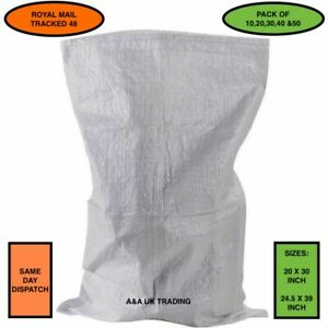 Rubble Bags Sacks Bulk Builders Garden Waste Heavy Duty Large Woven 50 X 80 CM