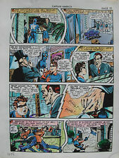 JACK KIRBY Joe Simon CAPTAIN AMERICA #10 pg 15 HAND COLORED ART Theakston 1989