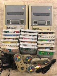 Lot Nintendo 18 jeux Super Famicom 2 consoles 4 manettes cables JAPAN SNES SFC