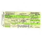 Serena Williams Autograph First Class Boarding Pass JSA 2002 American Airlines