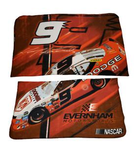 Nascar Kasey Kahne #9 Car Dodge Ram Evernham Motorsports Throw Blanket Orange