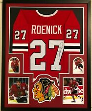 FRAMED CHICAGO BLACKHAWKS JEREMY ROENICK AUTOGRAPHED SIGNED JERSEY BECKETT COA