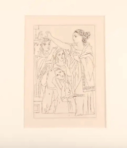 "Original Etching PABLO PICASSO ""Aristophanes, Lysistrata"" by Gilbert Seldes,1934"