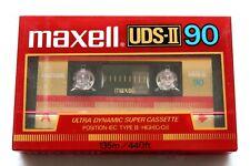 MAXELL UDS-II 90 HIGH BIAS TYPE II BLANK AUDIO CASSETTE - JAPAN 1985