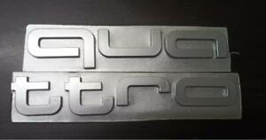 Fits AUDI A3 A5 Q3 Q5 Q7 TT QUATTRO Letter Front Grille Badge Sticker