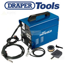 DRAPER 100Amp Gasless/Gas Mig Welder Welding Machine + Flux Wire/Tip/Mask 16057