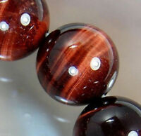 Natural Grade 12mm African Roar Red Tiger Eye Stone Round Loose Beads Strand 15""