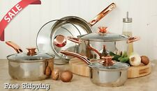 Stainless Steel 8 Piece For Cookware Set Non Stick Pots and Kitchen Pans On Sale
