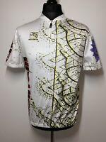 Giordana Cinelli USA Retro Sun Pattern Cycling Shirt Jersey Short Sleeve XXL