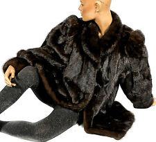 M L Mink Jacket Dark Mink Jacket Fur Jacket Fur Mink Fur Jacket Black-Brown