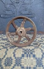 Small Antique Vintage Cast Iron Industrial Caster Cart Wheels Factory Cart