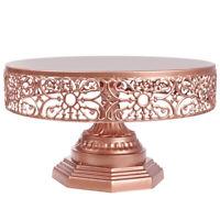 "12"" Cake Stand Metal Round Wedding Party Dessert Cupcake Pedestal Display Plate"