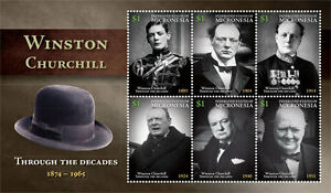 Micronesia - Sir Winston Churchill - Sheet of 6 stamps - 2015 MNH