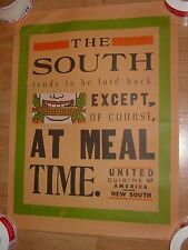 Vintage The South is Laid Back Except At Meal Time Poster food restaurant