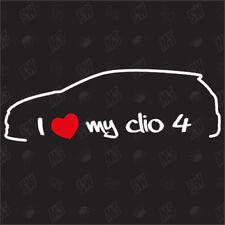 I love my Renault Clio 4 Etiqueta engomada apagado Años 12,Auto Tuning Pegatina