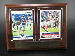 Victor Cruz New York Giants Wood Wall Picture 7 7/8in, Plaque NFL Football