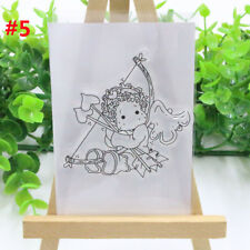 Lovely Girl Transparent Clear Rubber DIY Stamp Silicone Scrapbooking Decorative