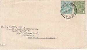 SE26) Australia 1936 Business sized envelope, trimmed at left, bearing 1/4d & 1d