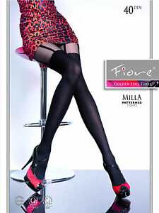 Milla Patterned FIORE Tights 40 Denier Sexy a hold-up imitation pattern