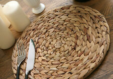 Set of 4 NATURAL Water Hyacinth WEAVE PLACEMATS Tablemats BY CREATIVE TOPS