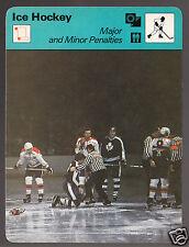 MAJOR MINOR PENALTIES Hockey Capitals Maple Leafs Fight 1978 SPORTSCASTER CARD