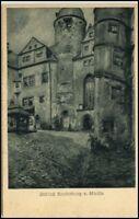 LUNZENAU Mulde ~1910/20 Künstlerkarte Schloß Rochsburg alte Postkarte Sachsen