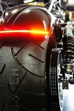 "Flexible LED Motorcycle Light Bar w/ Brake and Turn Signals - 8"" - Smoked Lens"