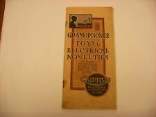 Original Vtg Phonograph Catalog - Gramophone Toys Bicycles  from Currys London