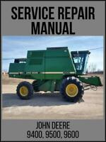 John Deere 9400 9500 & 9600 Combine Service Repair Technical Manual TM1401 USB