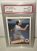 1985 Topps Orioles Baseball Card HOF Cal Ripken Jr #30 PSA Graded 8 (OC) NM-MT!