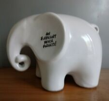 Eric The Memo Elephant White Ceramic Figurine Ornament