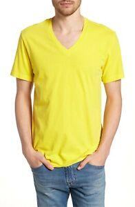 James Perse Men/'s Yellow Branches Graphic S//S Crew Neck T-Shirt Sz 4 MLJ3311KS