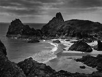 PHOTO SEASCAPE KYNANCE COVE CORNWALL ENGLAND BEACH ROCKS POSTER PRINT BMP10766