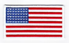 AMERICAN FLAG 2x4 SEW ON IRON PATCH HARLEY DAVIDSON MOTORCYCLE BIKER JACKET VEST