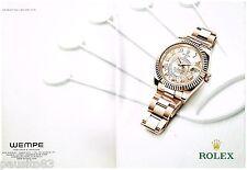 PUBLICITE ADVERTISING 0105  2014  ROLEX  montre SEADWELLER oyster perpetu  (2p)