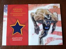 2012 Topps Olympic Hopefuls Michael Phelps Bronze Relic 64/75, Super Rare Card