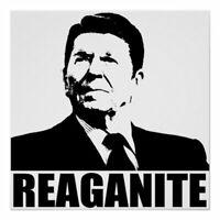 """Ronald Reagan Political Sticker 2"""" ROUND Funny REAGANITE Conservative sticker"""