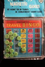 Vintage Magnetic Bingo Travel Game 1950's Hong Kong  Mint In Sealed Package
