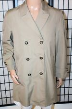 Vintage Koratron Le Chevron Size 40 Trench Coat Rain Topcoat Removable Liner Euc