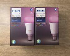 2 X Philips Hue B22 Colour Ambiance Smart Light Bulb *New & Sealed*