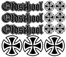 12x Iron Cross Oldschool Eisernes Kreuz Aufkleber Set Tuning Sticker Rat Look H3