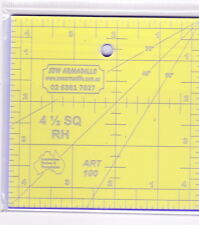"""4.5"""" Square Ruler -for patchwork & crafting - use with Rotary Cutter"""