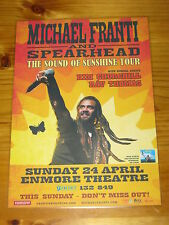 MICHAEL FRANTI - 2011 SOUND OF SUNSHINE Australia Tour - Laminated Promo Poster