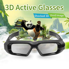 Active Shutter 3D Glasses Blue-tooth for Epson/Samsung 3D TVs USB Rechargeable
