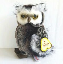 "Aurora Barney Great Horned Owl 9"" Plush  Stuffed Animal Flopise 03214 with Tags"