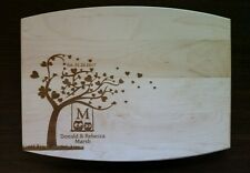 Personalized Maple Cutting Board Owls in Love Heart Tree wedding anniversary