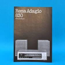 Rema Adagio 830 Stereo-Großsuper DDR 1973 | Prospekt Werbung DEWAG Werbeblatt K