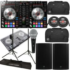 Pioneer DDJ-SR2 DJ Controller + Mackie Thump 15 1300W Speakers + Bags + Cables