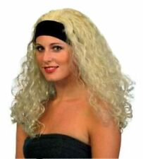 1980s Perm Curly Sue 90s Superstar Wig Blonde Best Quality Headband Fancy Dress