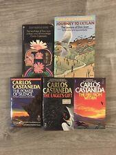 Carlos Castaneda 5 Book Lot Don Juan Journey To Ixtlan Power Silence Fire Within